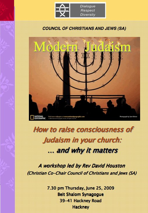Raising consciousness of modern Judaism in your church and why it matters